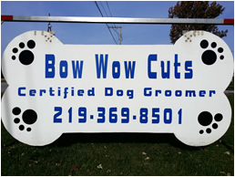 dog grooming laporte sign